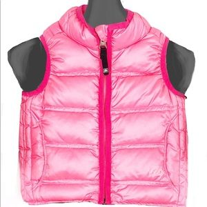 Rei Hot Pink 80% Goose Down Sleeveless Vest 18 Mo.